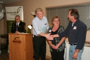 The 2012 Business of the Year Award was presented to Deborah Lauzon and Robert Yemm of Y&amp;R Water Sales and Service of Grand Forks. Photo Erin Perkins.